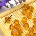Beads, Auralescent Crystal, Crystal, Yellow , Faceted Bicones, 6mm x 6mm x 5mm, 10 Beads, [ZZC182]